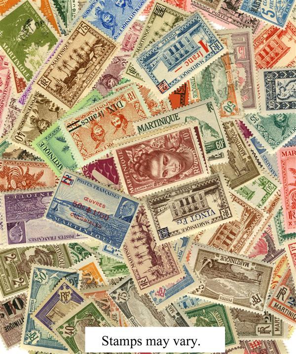 Martinique, 75 stamps