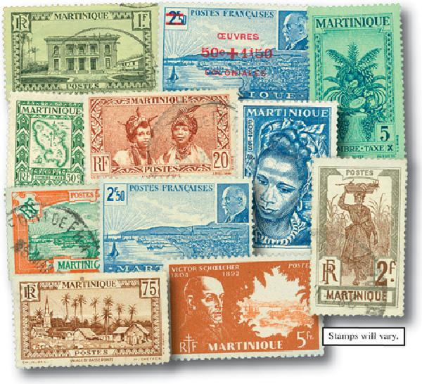 Martinique, 100 stamps