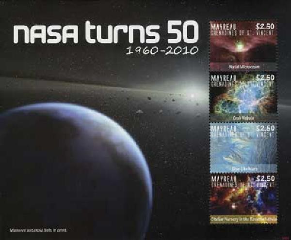 2010 Mayreau NASA 50 Yrs. 4v M