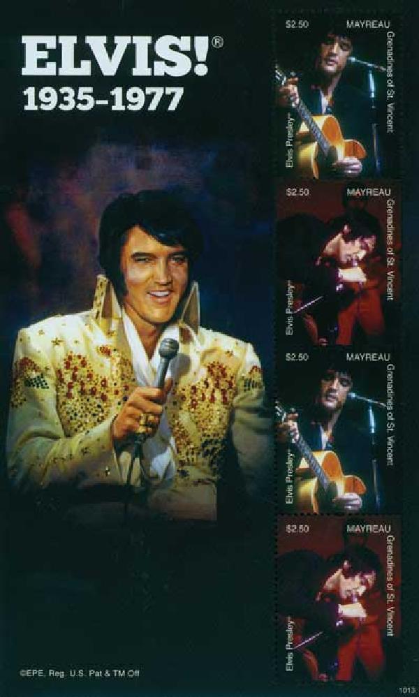 2010 Mayreau Elvis Presley 4v Mint