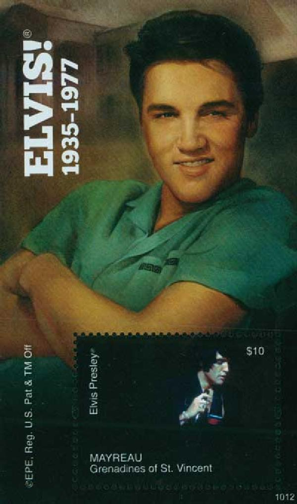 2010 Mayreau Elvis Presley s/s Mint