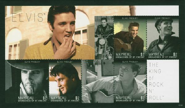 2011 Mayreau Elvis 5v Mint Sheet