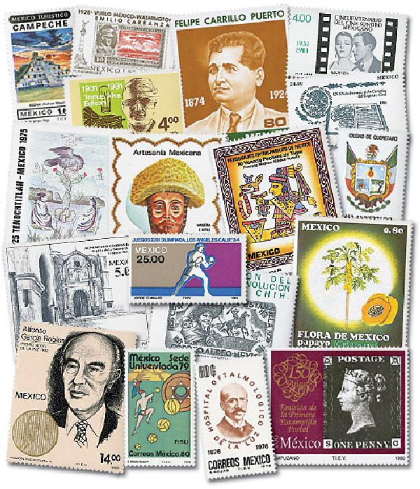 Mexico, 200 different Mint Stamps
