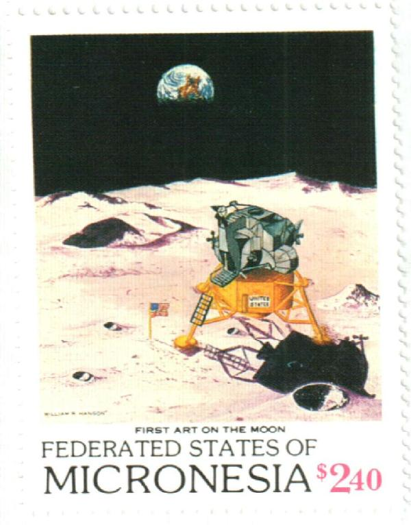 1989 Micronesia - First Art on the Moon
