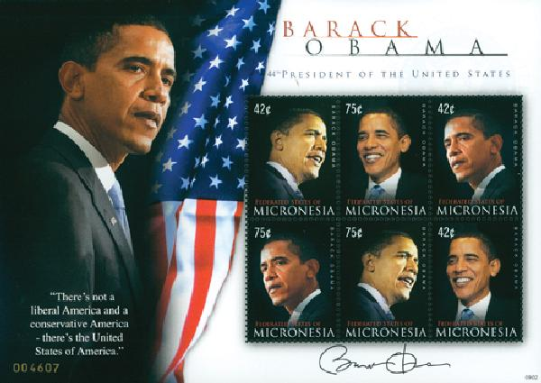 2009 Micronesia President Obama 6v M