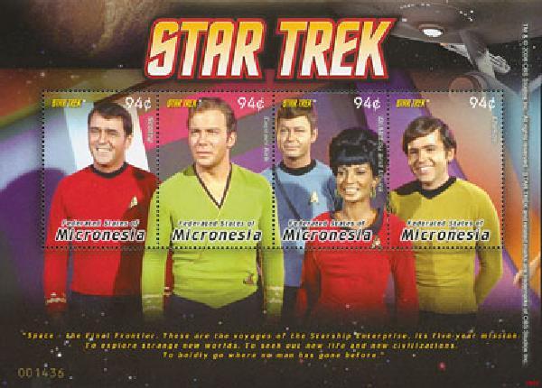 2008 Micronesia Star Trek 4v M