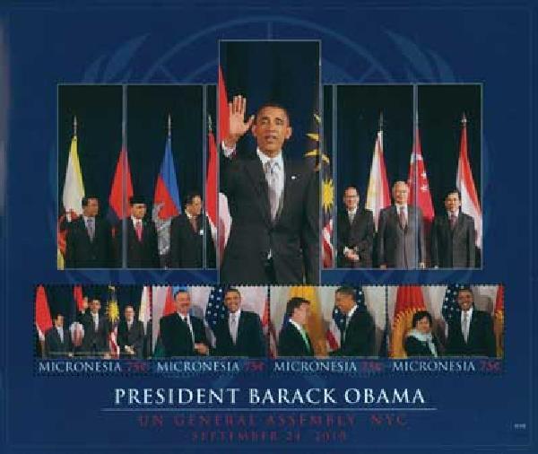 2010 Micronesia Barack Obama UN 4v M