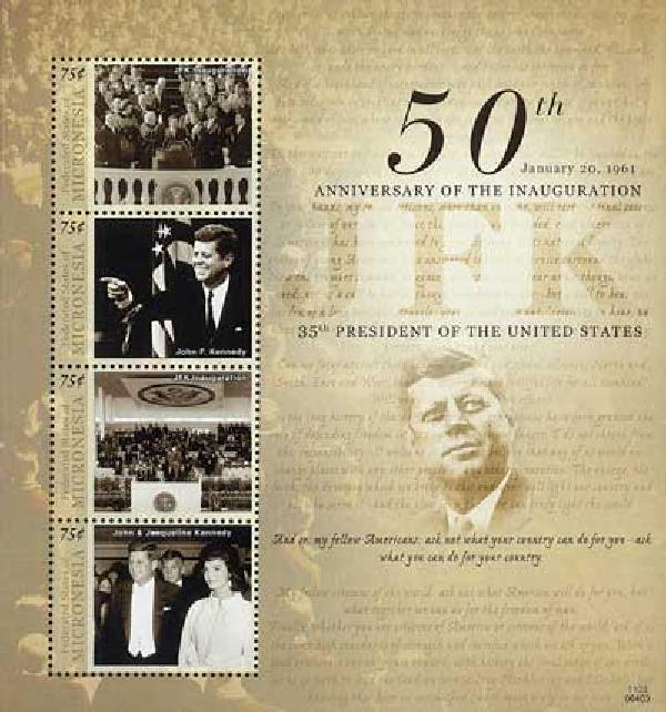 2011 Micronesia JFK 50th Anniv 4v Mint