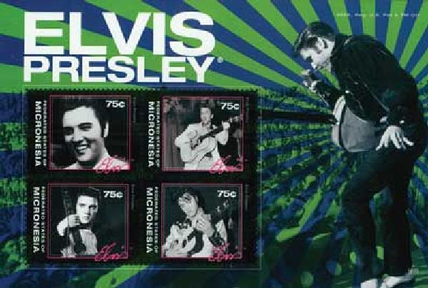 2010 Micronesia Elvis Presley 4v Mint