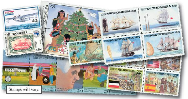 Micronesia Deluxe Packet, 59v, Mint