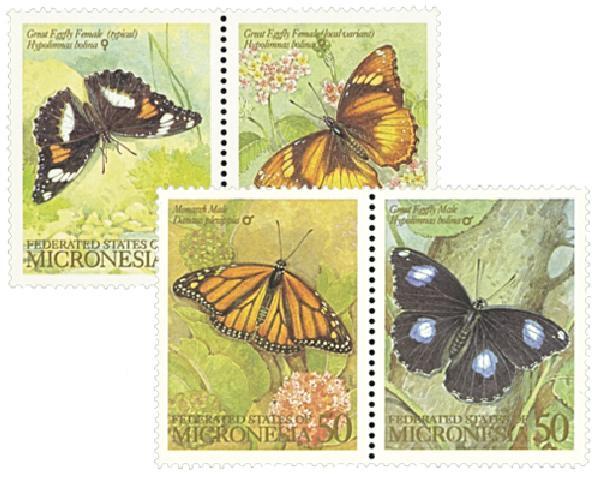 1993 Micronesia #182a-83b Butterflies
