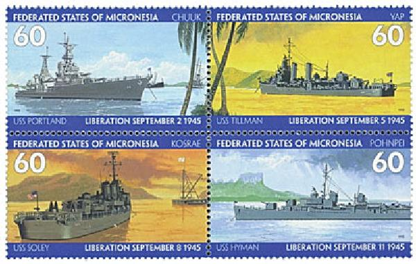 95 Micronesia 231a-d End of WWII 50 Annv