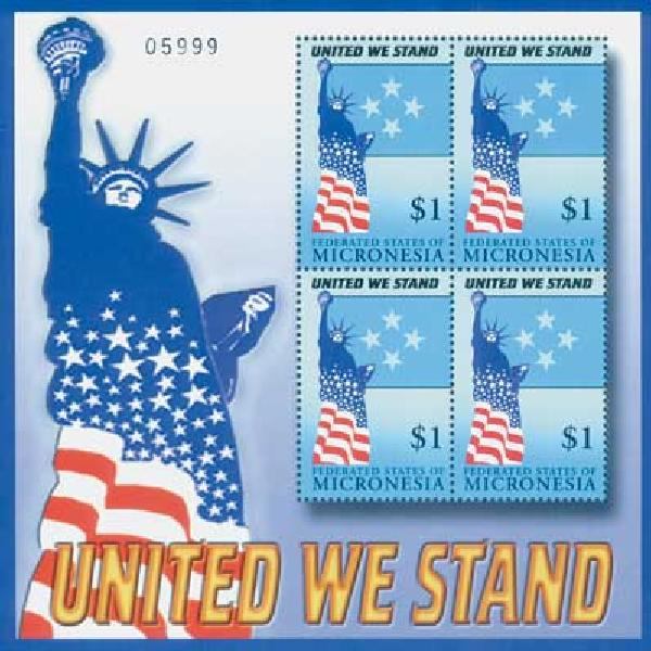 Micronesia, $1 United We Stand, S/S,mint