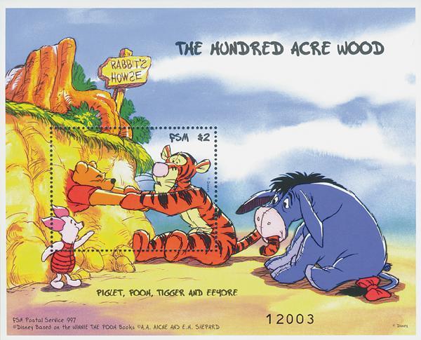 Micronesia 1998 Piglet Pooh & Tigger S/S