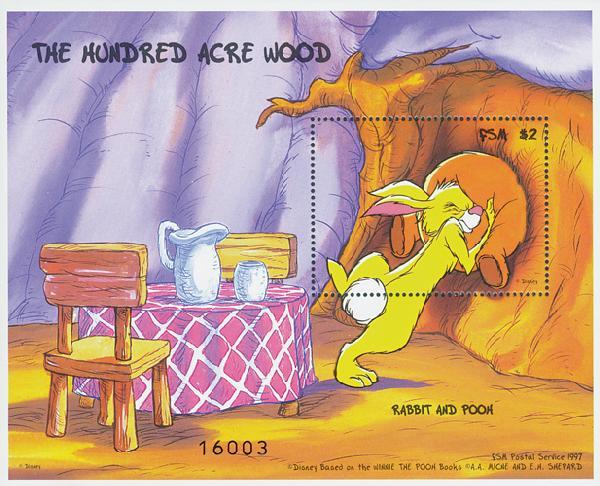 Micronesia 1998 Rabbit & Pooh, S/S