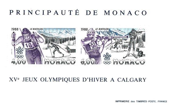 1988 Monaco Winter Olympics stamp