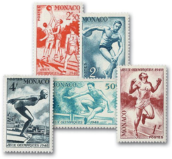 1948 Monaco - Olympics (Scott #204-08)