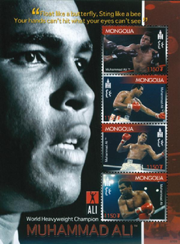 2007 Mongolia Muhammad Ali 4v Mint