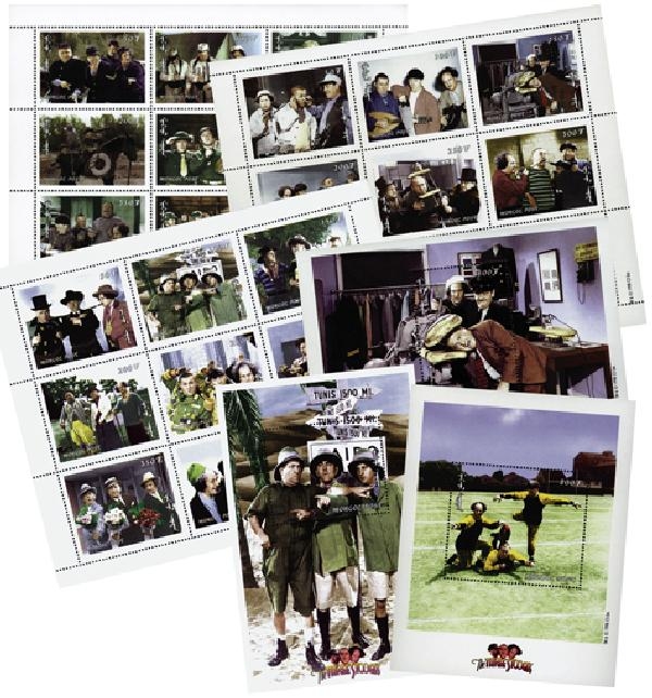 Mongolia 1999 Three Stooges