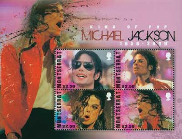 2010 Montserrat Michael Jackson 4v Mint