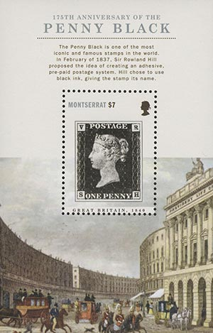 2015 $7 175th Anniversary of the Penny Black Souvenir Sheet