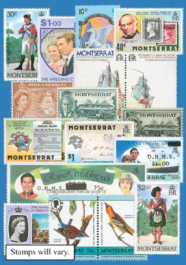 Montserrat, set of 25