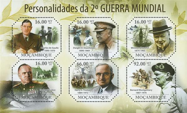 2011 $16 People of WWII sheet of 6