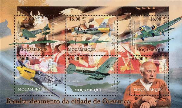 2012 $16 Planes & Picasso Paintings, Bombing of Guernica sheet of 6