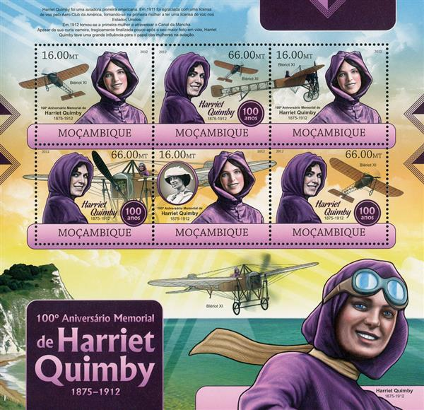 2012 $16 Harriet Quimby sheet of 6