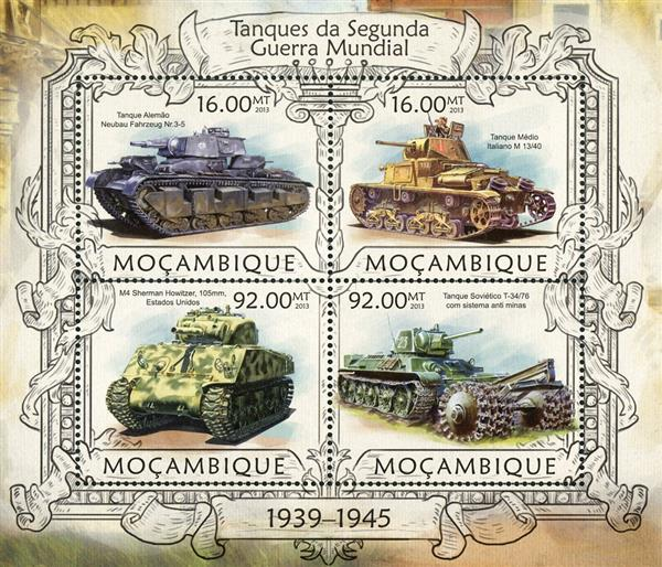 2013 $16 Tanks of WWII sheet of 4