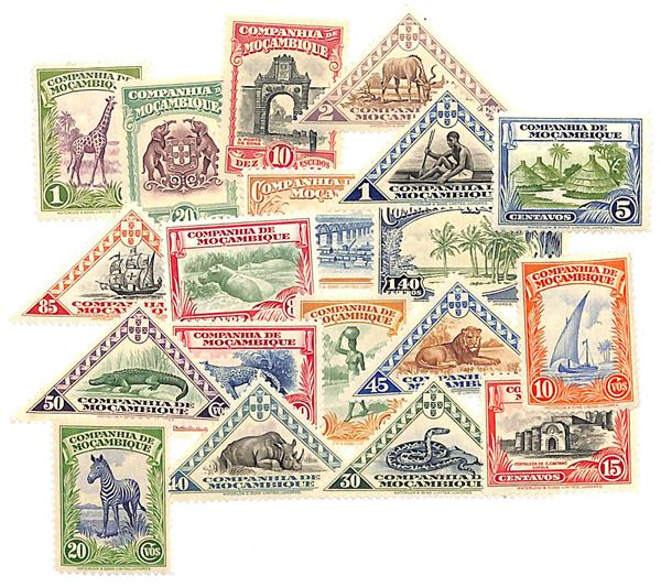 1937 Mozambique Company Complete set of 19 Commemoratives