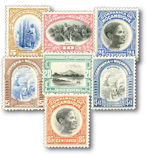 Mozambique Company 155-61 7 Mint stamps