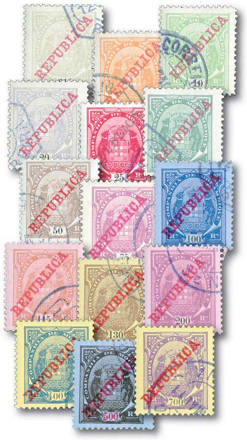 Mozambique Company 75B-89 15 Used stamps