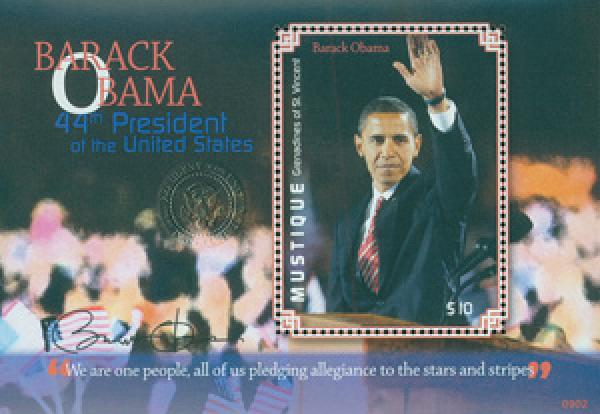 2009 President Barack Obama, Mint Souvenir Sheet, Mystique
