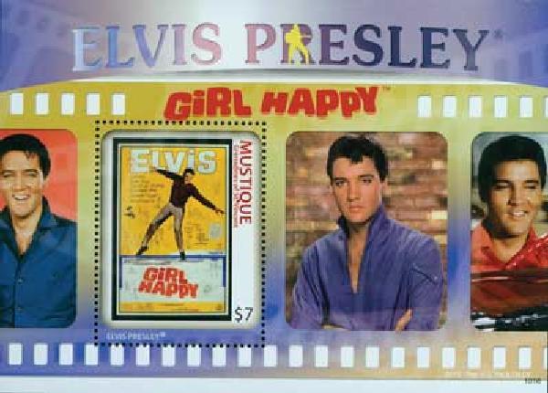 2010 Mustique Elvis Presley s/s Mint