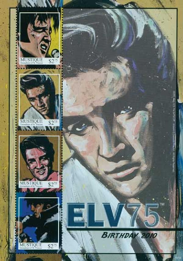 2010 Mustique Elvis Presley 4v Mint