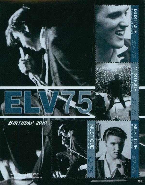 2010 Mustique Elvis Presley 4v Mint