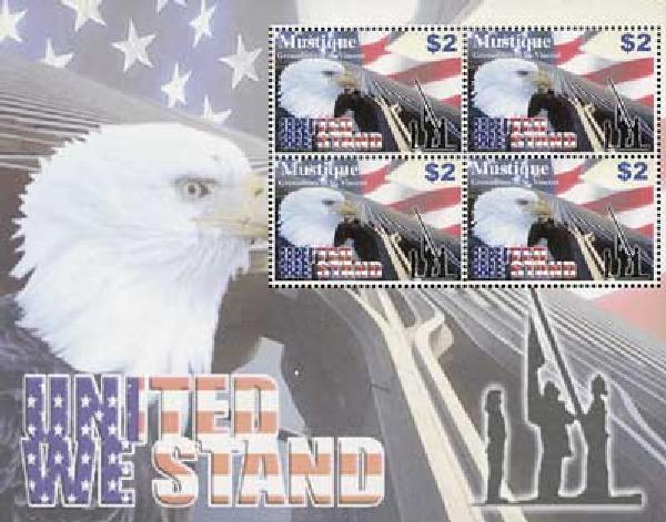 2003 Mustique #13 4v Mint