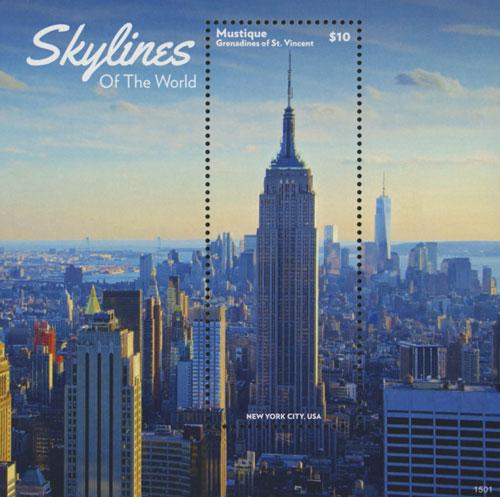 2015 $10 New York City Skylines  S/S