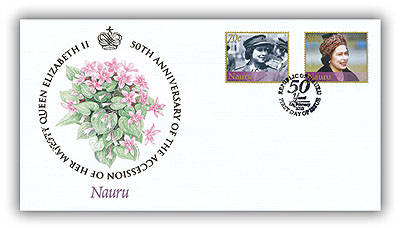 2002 Queen's Golden Jubilee Nauru FDC