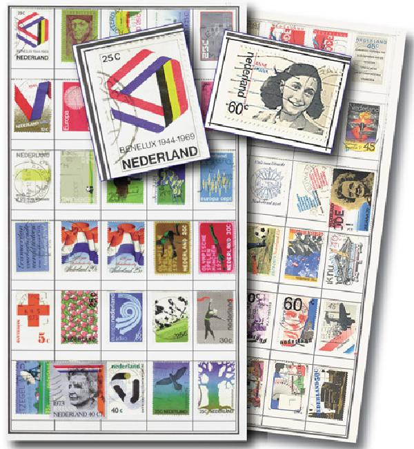 Netherlands 1000 stamps used