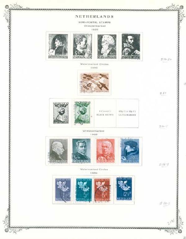 1906-66 Netherlands Semipostal,BOB