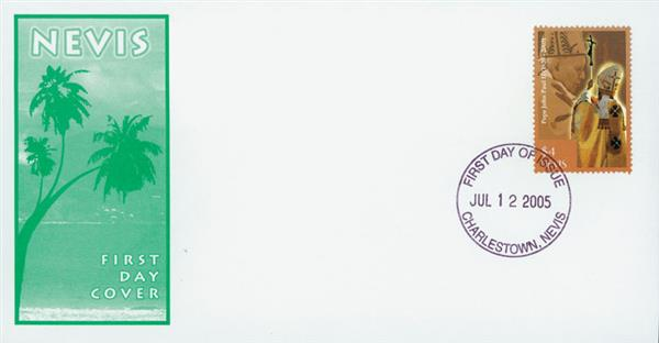 2005 Nevis Pope John Paul II First Day Cover