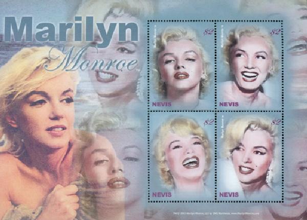 2004 Nevis Marilyn Monroe 4v