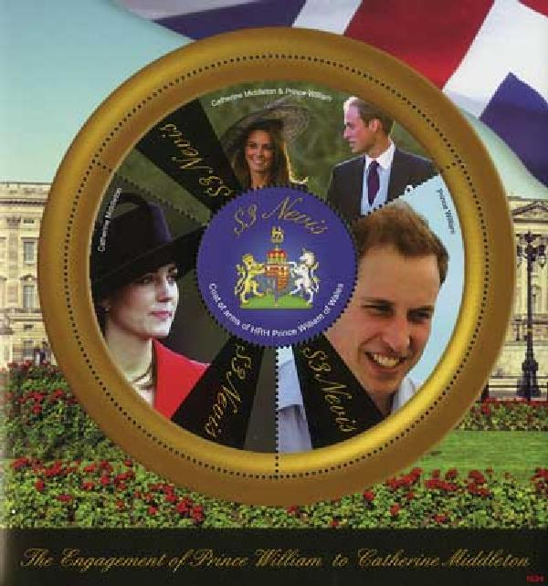 2010 Nevis William & Kate 4v Mint
