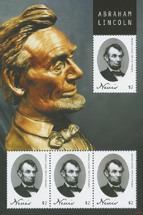 2010 Nevis Abe Lincoln 4v Mint
