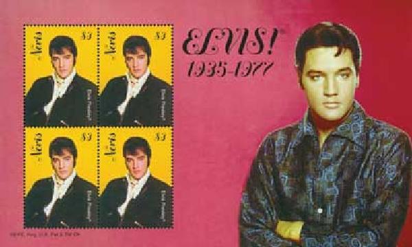 2010 Nevis Elvis Presley 4v Mint