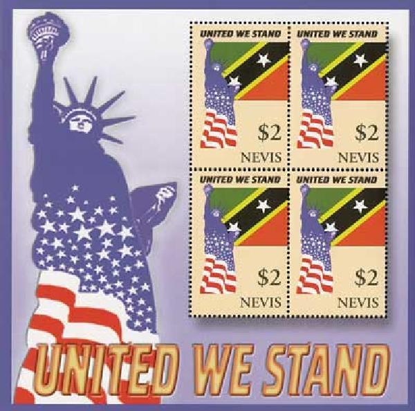 2002 Nevis #1298 4v Mint