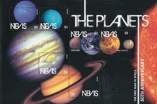 2011 Nevis 1st Man in Space 50th Ann. M
