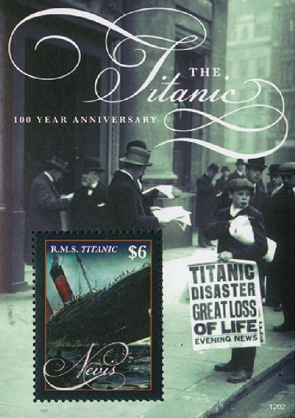 2012 Nevis Titanic Centennial Mint s/s